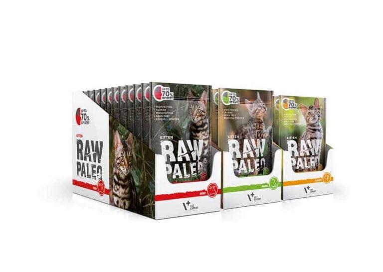 Raw Paleo Katze Kitten monoprotein Katzenfutter, Getreidefreies, Taurin enthalten, hoher Proteingehalt