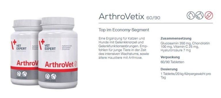 Nahrungsergänzung – VetExpert ArthroVet HA Gelenke & Knochen