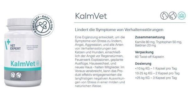 Nahrungsergänzung – VetExpert KalmVet Beruhigungsmittel Hund Stress Katze