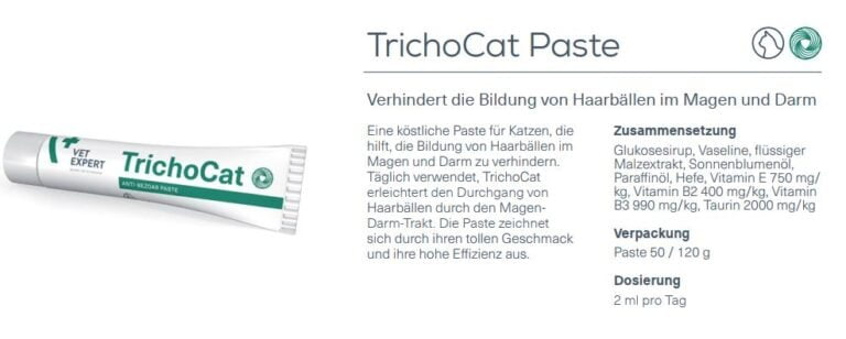 Nahrungsergänzung – VetExpert TrichoCat Malzpaste Haarballe