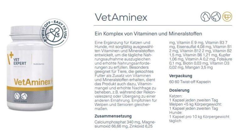 Nahrungsergänzung – VetExpert VetAminex Vitamine Hund