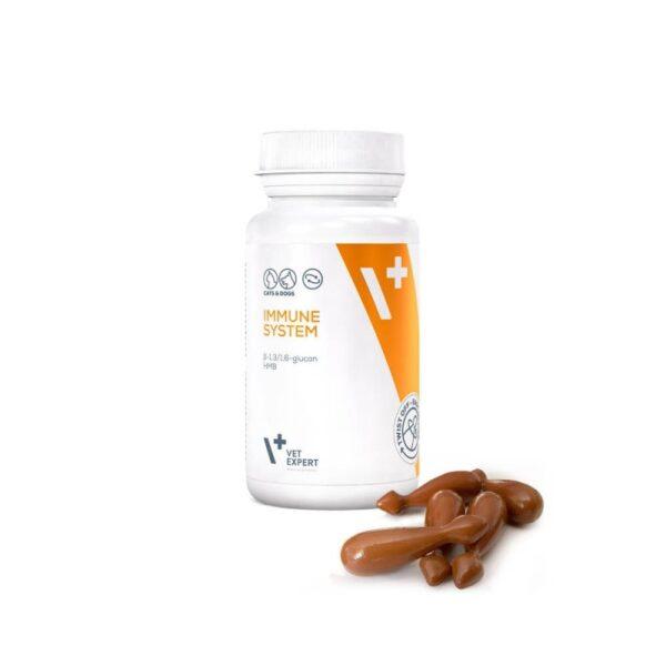 Pet - VetExpert Immune System 30 Kapseln Twist-Off Diätergänzungsfuttermittel Tierarztbedarf, Veterinärbedarf, Veterinärmedizin, Praxisbedarf, Ergänzungsfuttermittel, Tierarztprodukten, Tierapotheke, Tierpflegeprodukte