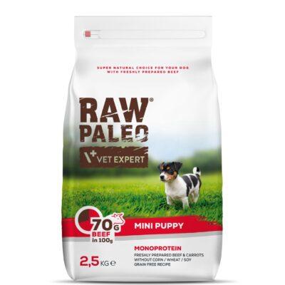RAW PALEO Hundefutter mini Puppy Rind 2,5kg