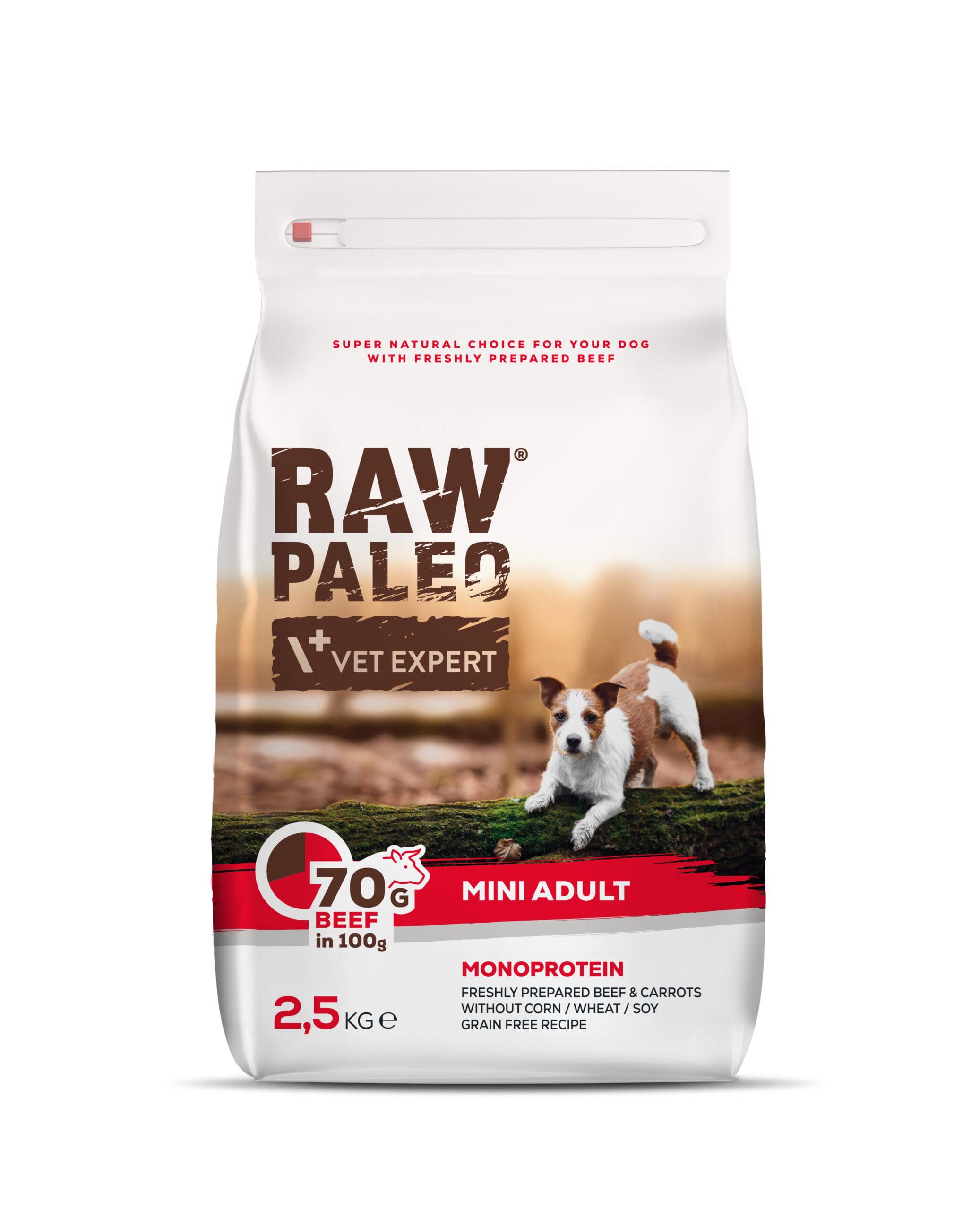 RAW PALEO Hundefutter mini Adult Rind 2,5kg
