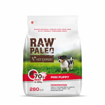 RAW PALEO Hundefutter mini Puppy Rind 280g