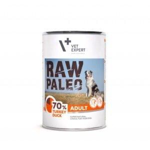 Raw Paleo Adult Hundefutter Nassfutter Truthahn und Ente