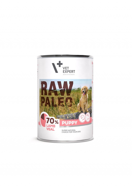 Raw Paleo Puppy Hundefutter Nassfutter Lamm- und Kalbfleisch