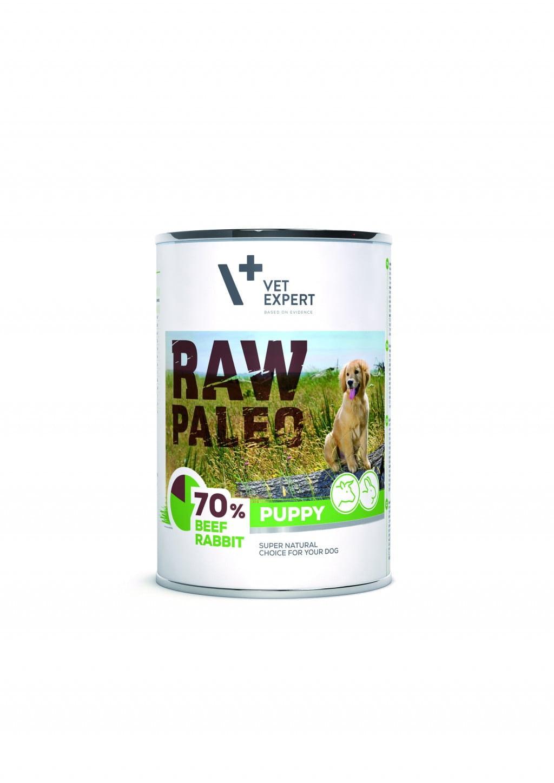Raw Paleo Puppy Hundefutter Nassfutter Rind und Kaninchen