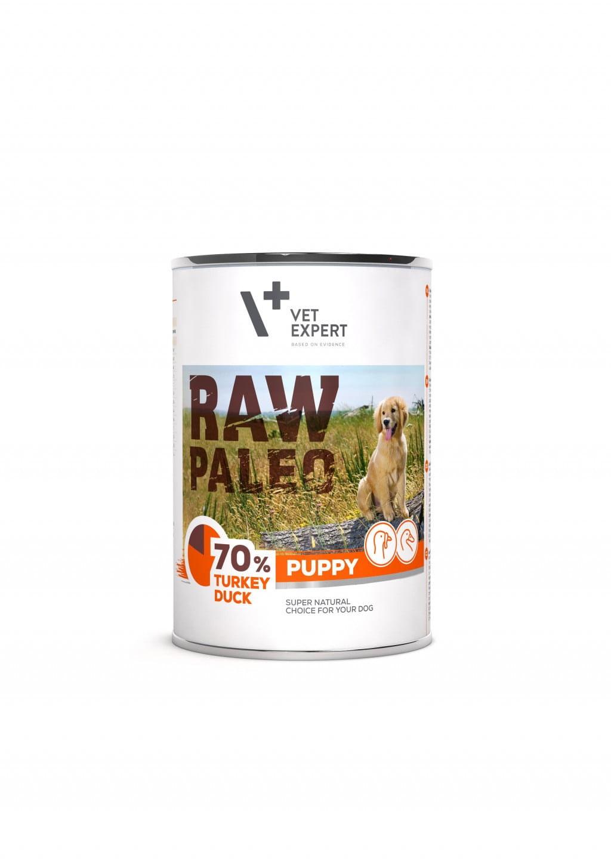 Raw Paleo Puppy Hundefutter Nassfutter Truthahn und Ente