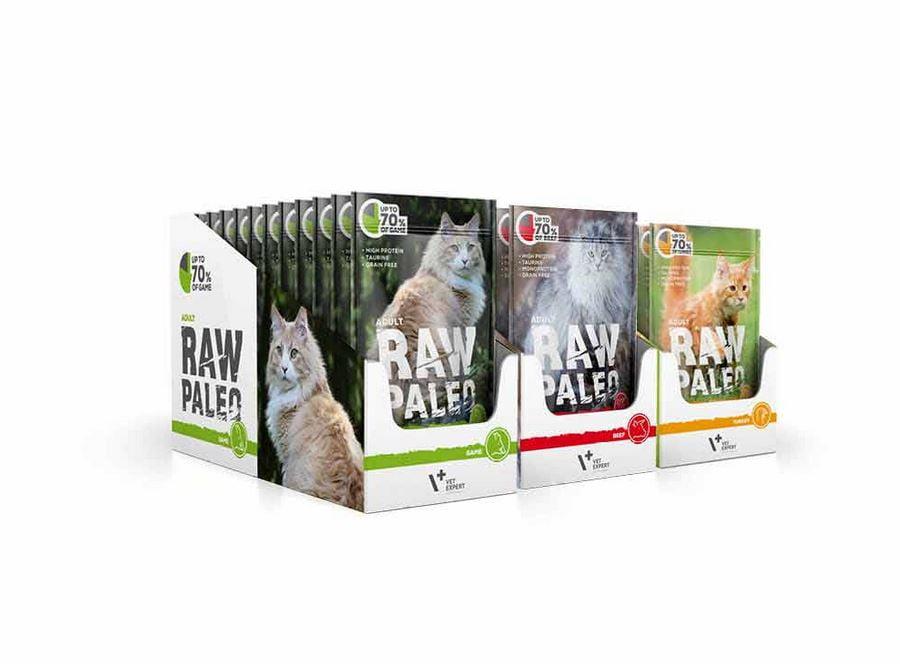 Raw Paleo Katze Adult monoprotein Katzenfutter, Getreidefreies, Taurin enthalten, hoher Proteingehalt Nassfutter
