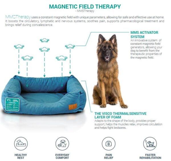 VETEXPERT MagnetiCare Orthopädisches Hundebett Gelenkprobleme