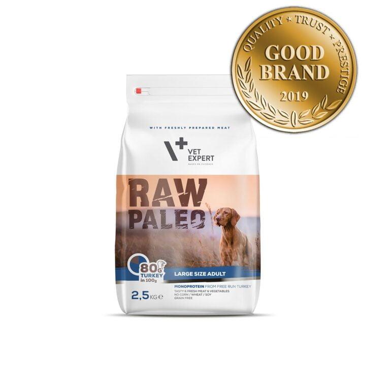 VetExpert Raw Paleo Adult Large Breed 2.5kg Premium getreidefreies Hundefutter, Alleinfuttermittel, Trockenfutter, Nassfutter, Hundebedarf, Hundenahrung, Hundeernährung