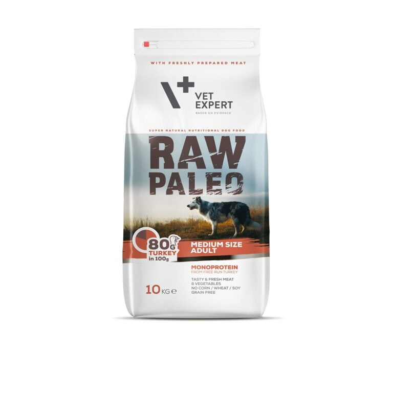 VetExpert Raw Paleo Adult Medium Breed 10kg Premium getreidefreies Hundefutter, Alleinfuttermittel, Trockenfutter, Nassfutter, Hundebedarf, Hundenahrung, Hundeernährung