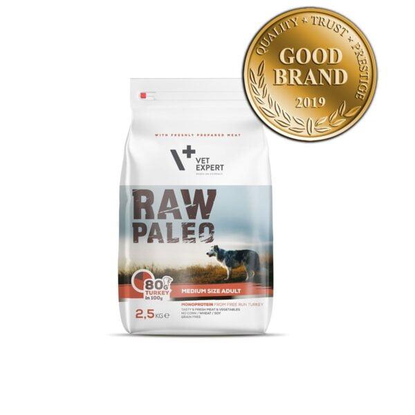 VetExpert Raw Paleo Adult Medium Breed 2.5kg Premium getreidefreies Hundefutter, Alleinfuttermittel, Trockenfutter, Nassfutter, Hundebedarf, Hundenahrung, Hundeernährung, Hundetrockenfutter