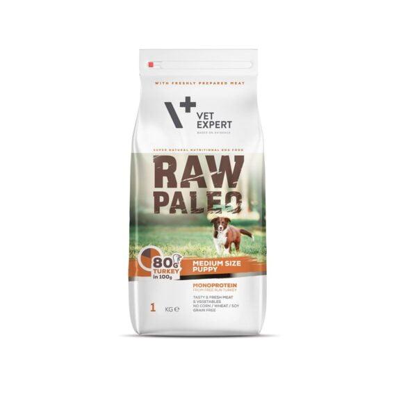 VetExpert Raw Paleo Puppy Medium Breed 1kg Premium getreidefreies Hundefutter, Alleinfuttermittel, Trockenfutter, Nassfutter, Hundebedarf, Hundenahrung, Hundeernährung