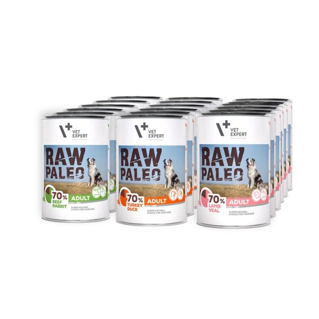 Raw Paleo Adult Hundefutter Nassfutter Getreidefrei
